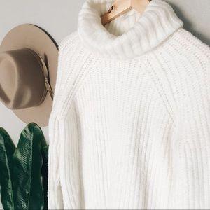 a.n.a. Cream Cowlneck Sweater